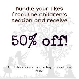50% off your bundle of children's items!